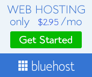 Bluehost Web Hosting Affiliate Banner